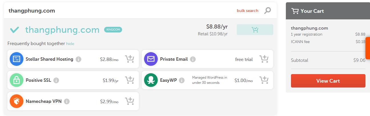 Hướng dẫn mua hosting và tên miền