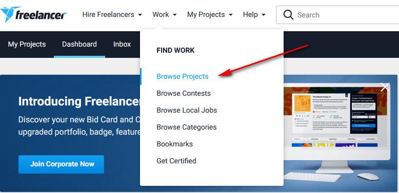 Tìm dự án làm Freelancer