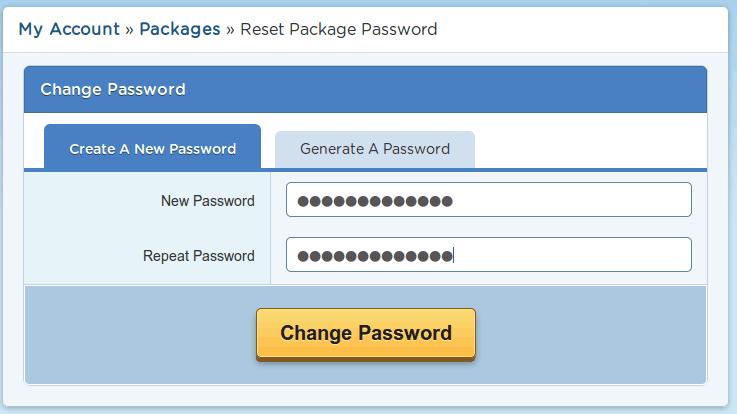 Hướng dẫn thay đổi mật khẩu Cpanel từ tài khoản khách hàng.
