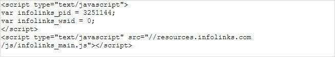 mã infolinks