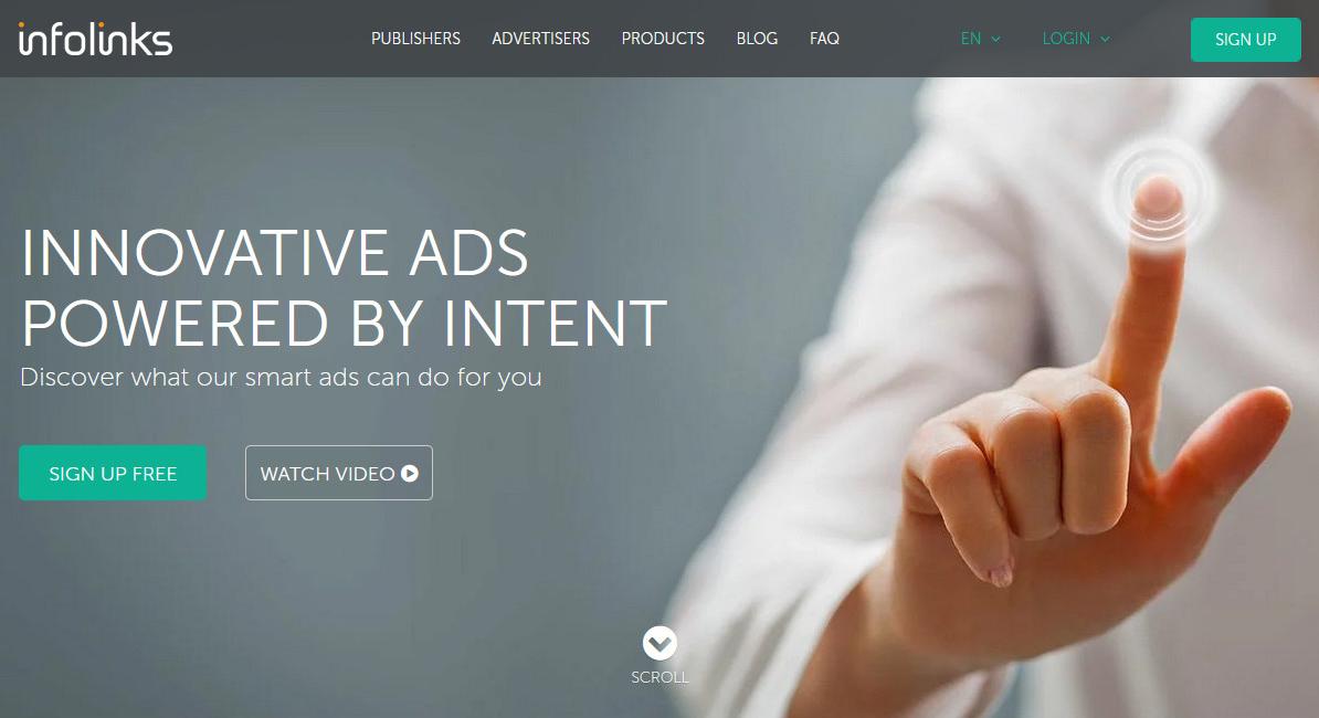 Mạng quảng cáo infolinks.com thay thế Google Adsense