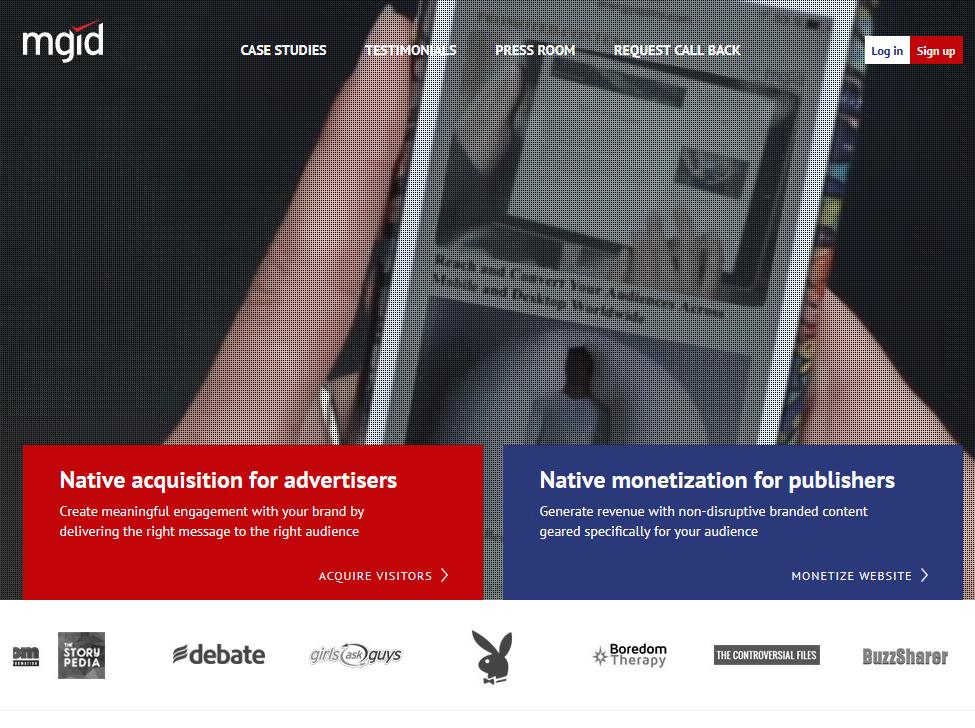 Mạng quảng cáo mgid.com thay thế Google Adsense