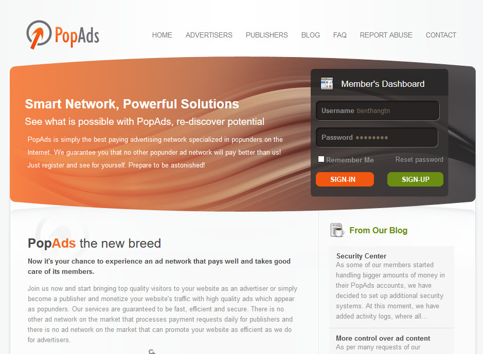 Mạng quảng cáo popads.net thay thế Google Adsense