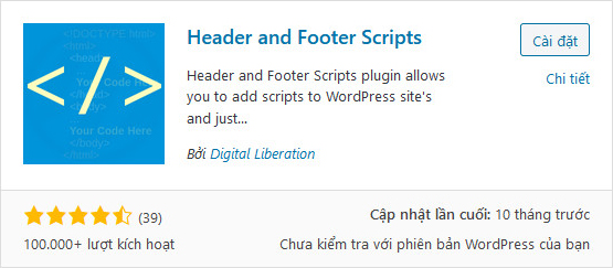 Plugin Header and Footer Scripts