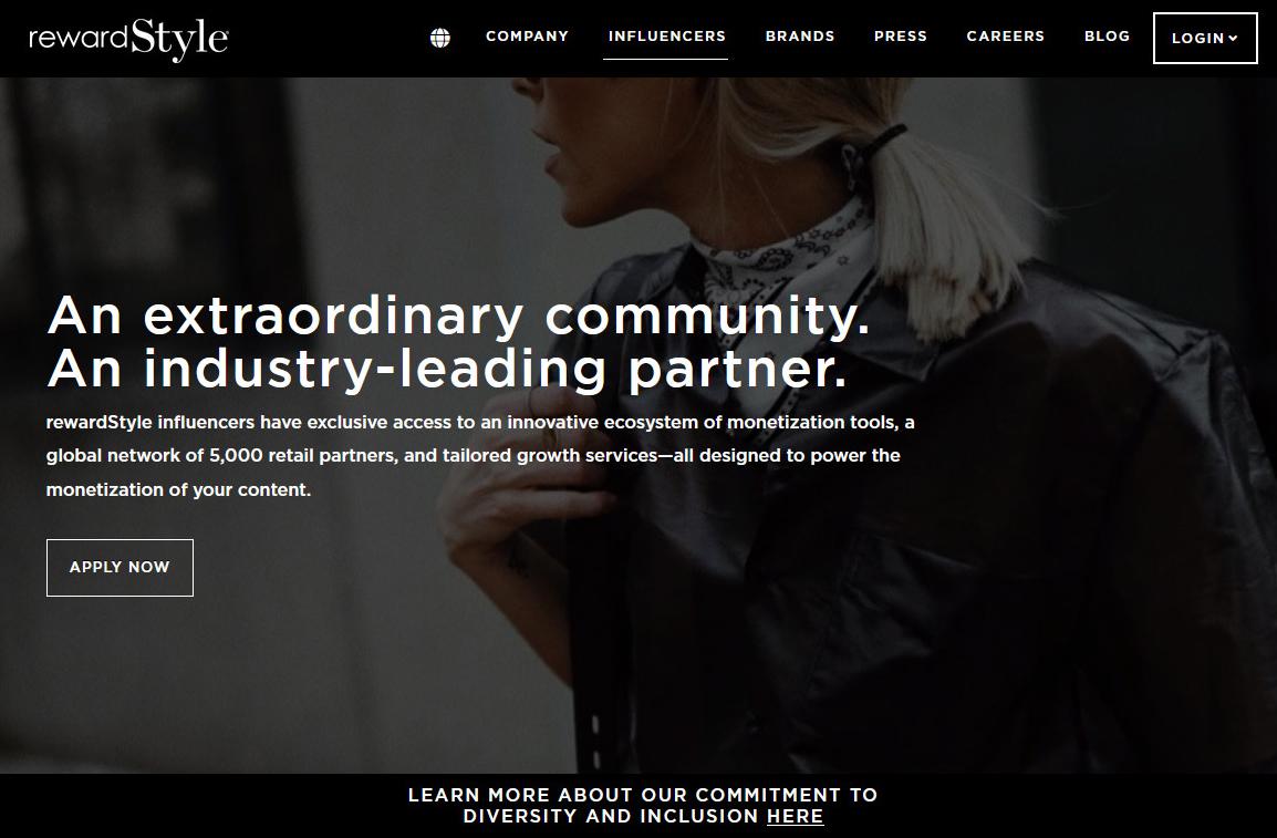 rewardStyle- Nền tảng tiếp thị liên kết dành cho Influencers